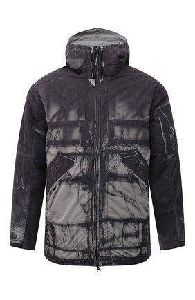Мужская утепленная куртка C.P. COMPANY серого цвета, арт. 11CM0W207A-005990P   Фото 1 (Длина (верхняя одежда): Короткие; Материал подклада: Синтетический материал; Рукава: Длинные; Материал внешний: Синтетический материал; Кросс-КТ: Куртка; Мужское Кросс-КТ: утепленные куртки; Стили: Гранж)