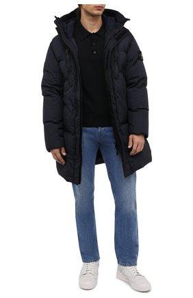 Мужская пуховик STONE ISLAND темно-синего цвета, арт. 751570123   Фото 2 (Материал подклада: Синтетический материал; Материал внешний: Синтетический материал; Материал утеплителя: Пух и перо; Кросс-КТ: Куртка; Длина (верхняя одежда): До середины бедра; Рукава: Длинные; Мужское Кросс-КТ: пуховик-короткий; Стили: Кэжуэл)