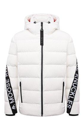 Мужская пуховая куртка naufrage MOOSE KNUCKLES белого цвета, арт. M31MJ153   Фото 1 (Рукава: Длинные; Длина (верхняя одежда): Короткие; Материал подклада: Синтетический материал; Материал утеплителя: Пух и перо; Материал внешний: Синтетический материал; Кросс-КТ: Куртка; Мужское Кросс-КТ: пуховик-короткий; Стили: Спорт-шик)