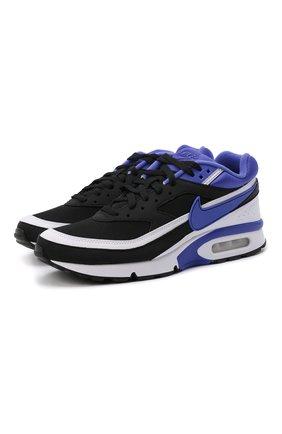Мужские комбинированные кроссовки air max bw og NIKELAB черного цвета, арт. DJ6124-001 | Фото 1 (Подошва: Массивная; Материал внешний: Текстиль; Материал внутренний: Текстиль; Стили: Спорт)