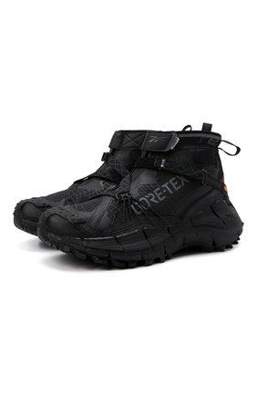 Мужские комбинированные кроссовки zig kinetica ii edge gore-tex REEBOK черного цвета, арт. H05172   Фото 1 (Подошва: Массивная; Материал внешний: Текстиль; Стили: Спорт)