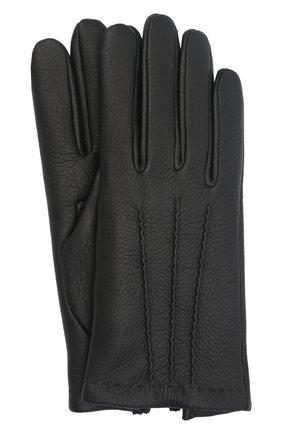 Мужские кожаные перчатки lupin AGNELLE черного цвета, арт. LUPIN | Фото 1 (Мужское Кросс-КТ: Кожа и замша)