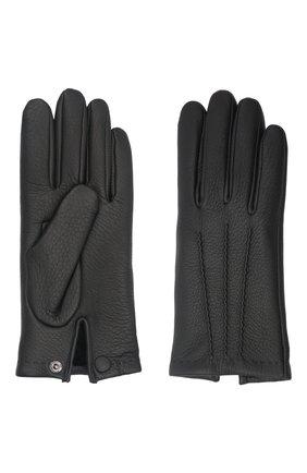 Мужские кожаные перчатки lupin AGNELLE черного цвета, арт. LUPIN | Фото 2 (Мужское Кросс-КТ: Кожа и замша)