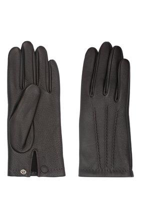 Мужские кожаные перчатки lupin AGNELLE темно-коричневого цвета, арт. LUPIN | Фото 2 (Мужское Кросс-КТ: Кожа и замша)