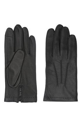 Мужские кожаные перчатки loic AGNELLE черного цвета, арт. L0IC/C100 | Фото 2 (Мужское Кросс-КТ: Кожа и замша)