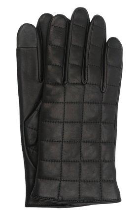 Мужские кожаные перчатки james AGNELLE черного цвета, арт. JAMES/A | Фото 1 (Мужское Кросс-КТ: Кожа и замша)