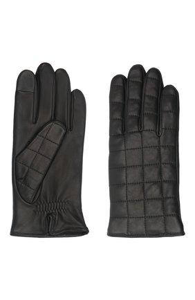 Мужские кожаные перчатки james AGNELLE черного цвета, арт. JAMES/A | Фото 2 (Мужское Кросс-КТ: Кожа и замша)