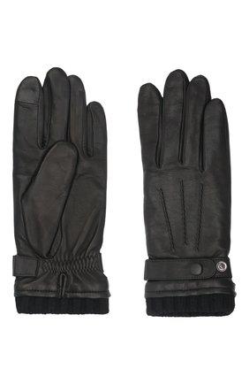 Мужские кожаные перчатки georges AGNELLE черного цвета, арт. GE0RGES | Фото 2 (Мужское Кросс-КТ: Кожа и замша)