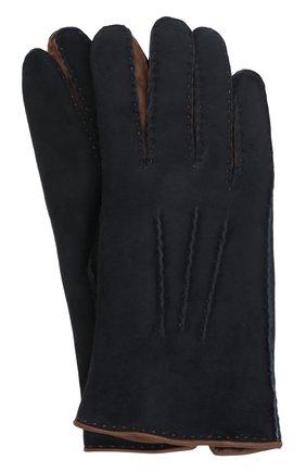 Мужские замшевые перчатки david AGNELLE темно-синего цвета, арт. DAVID | Фото 1 (Мужское Кросс-КТ: Кожа и замша; Материал: Замша)