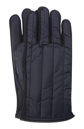 Мужские утепленные перчатки PAUL&SHARK темно-синего цвета, арт. 11317201/H1U | Фото 1 (Материал: Текстиль, Синтетический материал; Кросс-КТ: Пуховик)