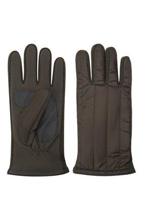 Мужские утепленные перчатки PAUL&SHARK хаки цвета, арт. 11317201/H1U | Фото 2 (Материал: Синтетический материал, Текстиль; Кросс-КТ: Пуховик)