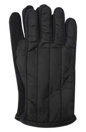 Мужские утепленные перчатки PAUL&SHARK черного цвета, арт. 11317201/H1U | Фото 1 (Материал: Синтетический материал, Текстиль; Кросс-КТ: Пуховик)