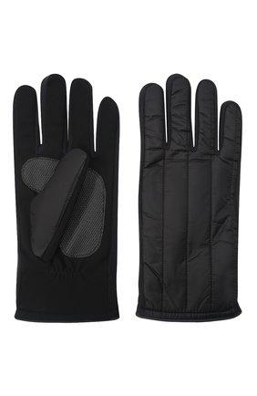 Мужские утепленные перчатки PAUL&SHARK черного цвета, арт. 11317201/H1U | Фото 2 (Материал: Синтетический материал, Текстиль; Кросс-КТ: Пуховик)