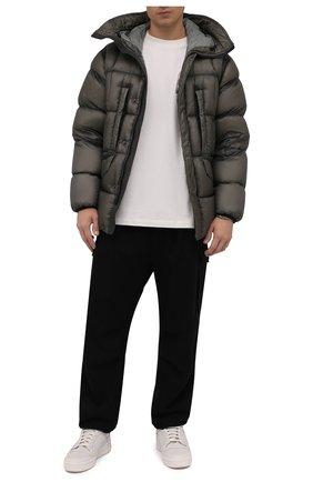 Мужские кожаные кеды forum hi og Y-3 белого цвета, арт. GY7909/M   Фото 2 (Подошва: Массивная; Материал внутренний: Натуральная кожа)