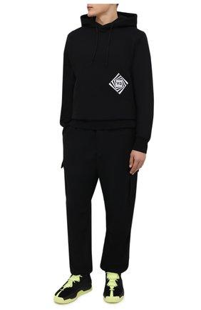 Мужские комбинированные кеды hokori ii Y-3 черного цвета, арт. GZ9145/M   Фото 2 (Подошва: Массивная; Материал внутренний: Натуральная кожа, Текстиль)