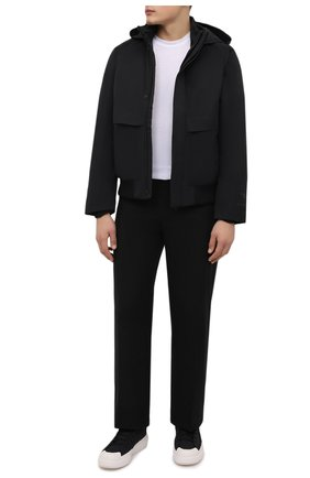 Мужские текстильные кеды ajatu court high Y-3 черного цвета, арт. H05621/M   Фото 2 (Материал внутренний: Натуральная кожа; Подошва: Массивная; Материал внешний: Текстиль)