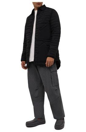 Мужские текстильные слипоны ERMENEGILDO ZEGNA темно-серого цвета, арт. A5109X-LHPAN   Фото 2 (Материал внешний: Текстиль; Материал утеплителя: Натуральный мех; Стили: Кэжуэл)