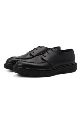 Мужские кожаные дерби RARE черного цвета, арт. RU3259/TUCS0N   Фото 1 (Материал внутренний: Натуральная кожа; Стили: Классический)