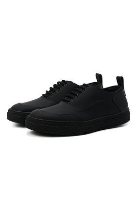 Мужские кожаные кеды RARE черного цвета, арт. RU0038/GUMMY   Фото 1 (Материал внутренний: Натуральная кожа; Подошва: Массивная)