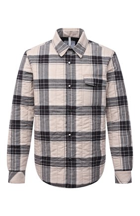 Куртка-рубашка из хлопка и шерсти   Фото №1