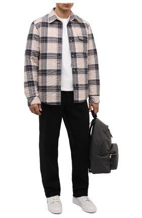 Куртка-рубашка из хлопка и шерсти   Фото №2