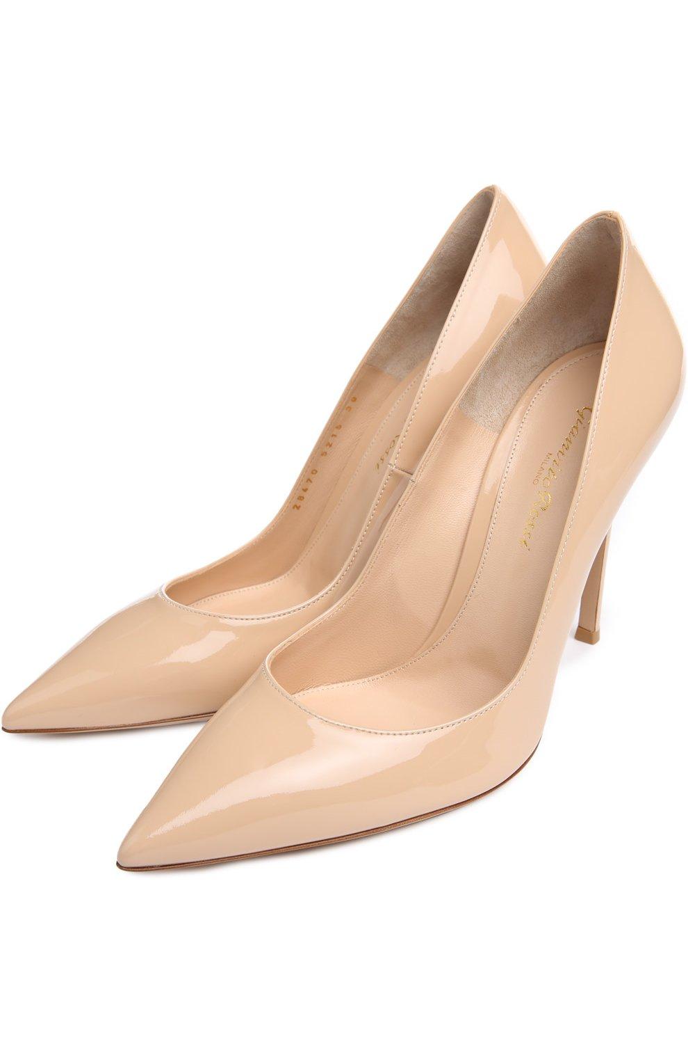 Лаковые туфли Gianvito 105 на шпильке | Фото №2