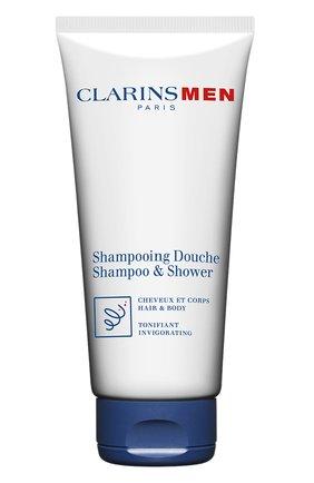 Мужского тонизирующий шампунь для волос и тела CLARINS бесцветного цвета, арт. 505100 | Фото 1