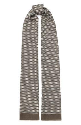 Мужской шарф из смеси кашемира и шелка LORO PIANA темно-бежевого цвета, арт. FAF2101 | Фото 1