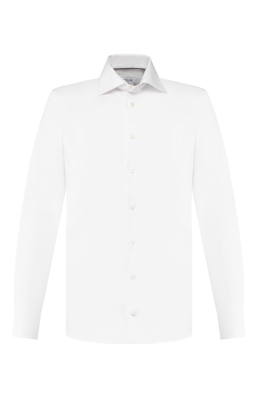 Мужская хлопковая сорочка ETON белого цвета, арт. 3100 79511   Фото 1