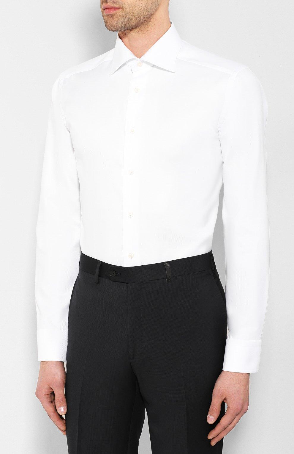 Мужская хлопковая сорочка ETON белого цвета, арт. 3100 79511   Фото 3