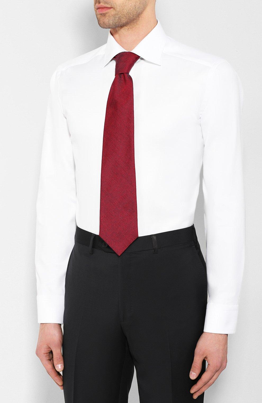 Мужская хлопковая сорочка ETON белого цвета, арт. 3100 79511   Фото 4