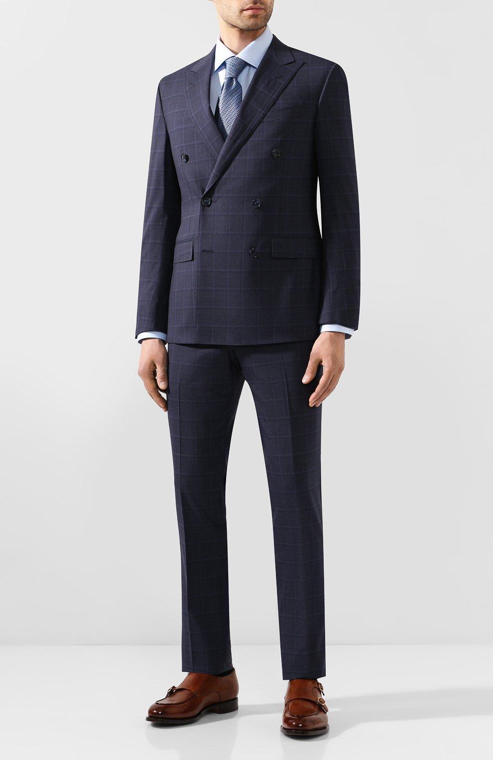 Мужская хлопковая сорочка ETON голубого цвета, арт. 3100 79511 | Фото 2