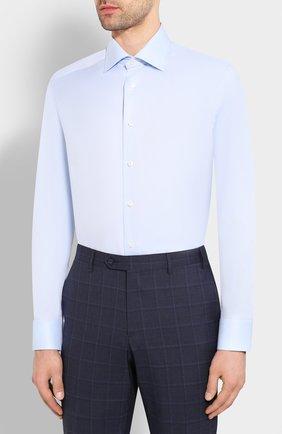Мужская хлопковая сорочка ETON голубого цвета, арт. 3100 79511 | Фото 3
