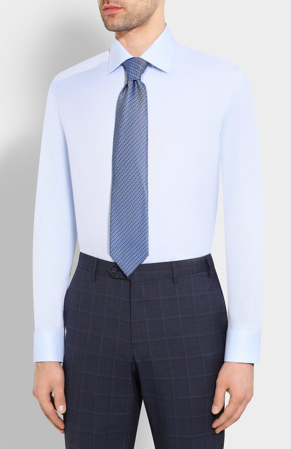 Мужская хлопковая сорочка ETON голубого цвета, арт. 3100 79511 | Фото 4