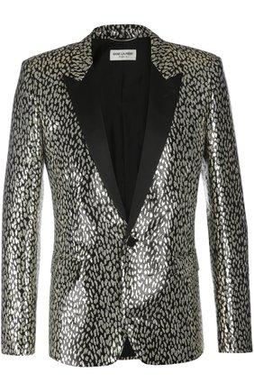 Вечерний пиджак Saint Laurent золотой   Фото №1
