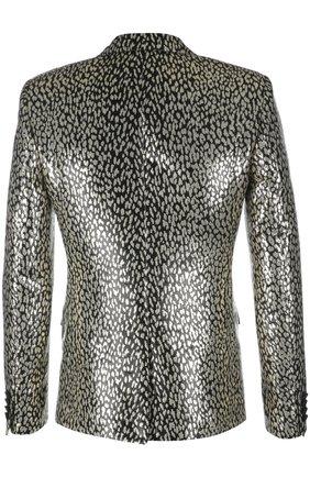 Вечерний пиджак Saint Laurent золотой   Фото №2
