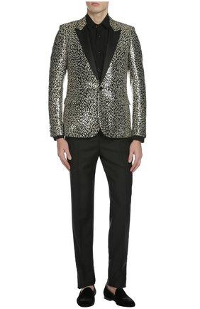 Вечерний пиджак Saint Laurent золотой   Фото №4