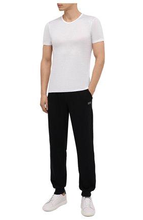 Мужская хлопковая футболка ZIMMERLI белого цвета, арт. 252/8125 | Фото 2