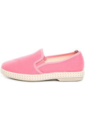 Детские хлопковые эспадрильи Rivieras Leisure Shoes розового цвета | Фото №1