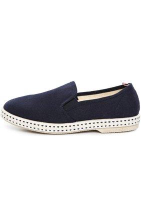 Детские хлопковые эспадрильи Rivieras Leisure Shoes синего цвета | Фото №1