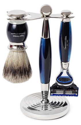 Мужская кисть для бритья и станок с лезвием fusion TRUEFITT&HILL бесцветного цвета, арт. 351 | Фото 1