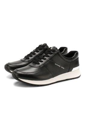 Женские кожаные кроссовки alison  MICHAEL MICHAEL KORS черного цвета, арт. 43R5ALFP3L | Фото 1