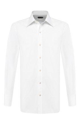 Мужская хлопковая сорочка TOM FORD белого цвета, арт. TFT00094C1JE | Фото 1