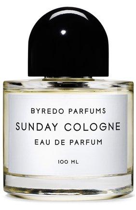 Мужской парфюмерная вода sunday cologne BYREDO бесцветного цвета, арт. BR807370 | Фото 1