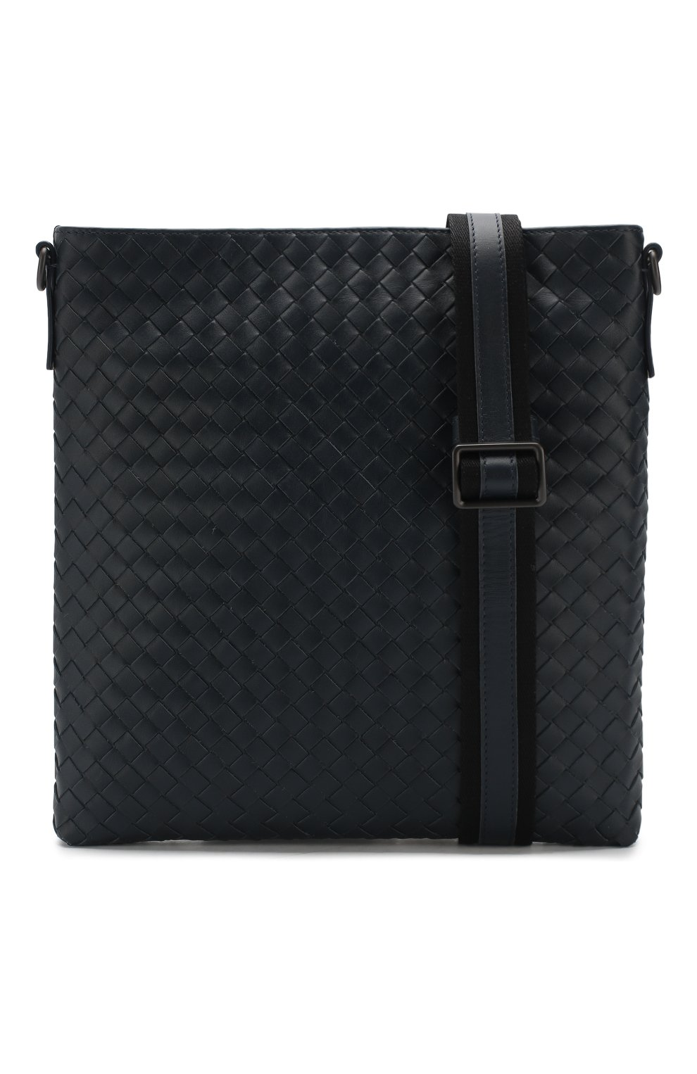 14aee7e0734c Кожаная сумка-планшет с плетением intrecciato Bottega Veneta темно-синяя    Фото №5