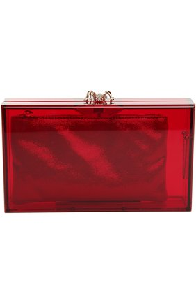 Клатч с косметичкой Charlotte Olympia красного цвета | Фото №1
