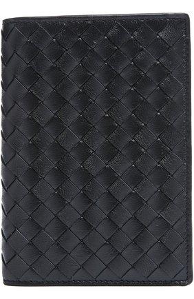 Кожаная обложка для паспорта с плетением intrecciato | Фото №1