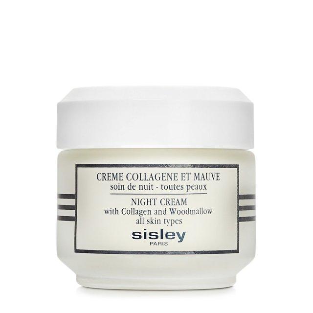 Ночной крем с коллагеном и мальвой Night Cream With Collagen and Woodmallow Sisley.
