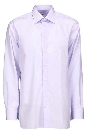 Мужская хлопковая сорочка BRIONI светло-сиреневого цвета, арт. RCL9/PZ005 | Фото 1
