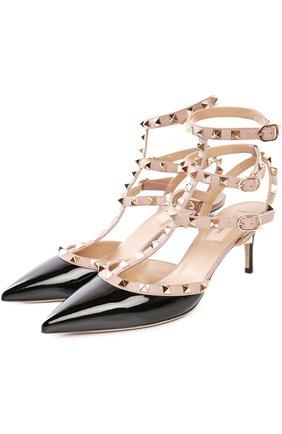 Лаковые туфли Valentino Garavani Rockstud с ремешками | Фото №2